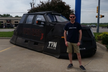 Jason Next to the Dominator 3