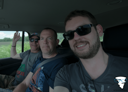 Back seat chasers - Ian, Lee and Jason