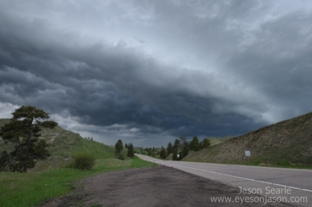 Shelf cloud rolling in on towards Crawford, NE