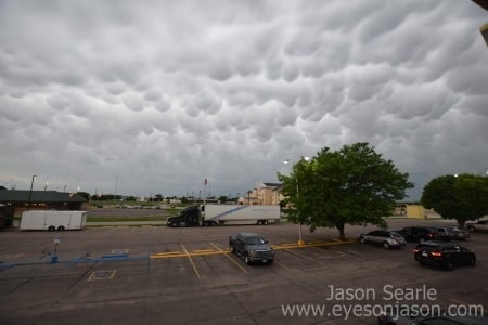 Mammatus outside our hotel in North Platte