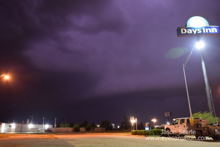 Storm base crossing over Woodward, Oklahoma