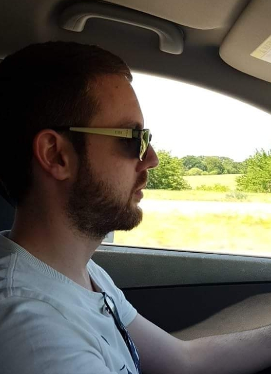 Jason driving in the USA