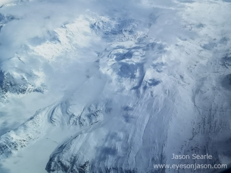 Mountains over greenland