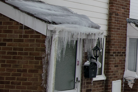 Incredible icicles in Yate