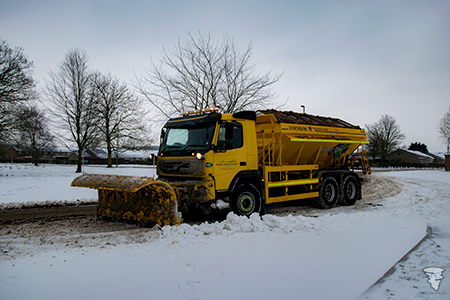 South Glocuestershire Council snow plough in the snow