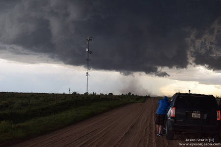 Wall cloud with suspect gustnado